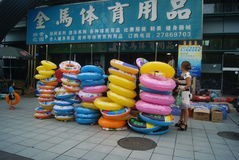 Shenzhen, China: people go to the swimming pool Royalty Free Stock Images