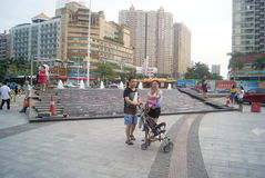 Shenzhen, China: people in the leisure Square Royalty Free Stock Photography