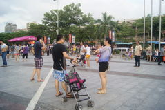 Shenzhen, China: people in the leisure Square Stock Photography