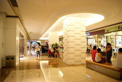 Shenzhen china: people in the mall shopping Royalty Free Stock Photography
