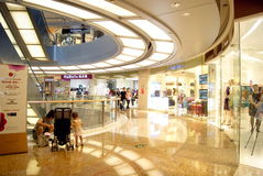 Shenzhen china: people in the mall shopping Royalty Free Stock Photo