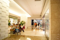 Shenzhen china: people in the mall shopping Stock Images