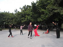 Shenzhen, China: people in the Park leisure activities Stock Photos