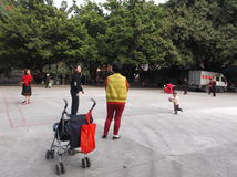 Shenzhen, China: people in the Park leisure activities Stock Image