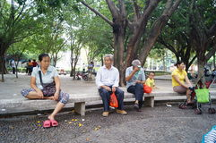 Shenzhen, China: people in the Park Leisure Royalty Free Stock Photography