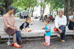 Shenzhen, China: people in the Park Leisure Stock Photo