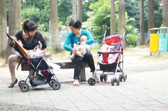 Shenzhen, China: people in the Park Leisure Royalty Free Stock Photo