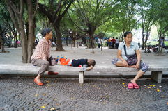 Shenzhen, China: people in the Park Leisure Stock Photography