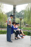 Shenzhen, China: people in the pavilion leisure Royalty Free Stock Photos