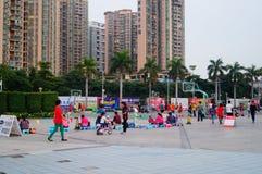 Shenzhen, China: People playing basketball Royalty Free Stock Photography