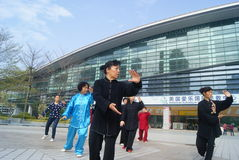 Shenzhen, China: people are practicing Taijiquan Stock Image