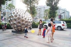 Shenzhen, China: people shopping square Stock Image