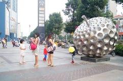 Shenzhen, China: people shopping square Royalty Free Stock Image
