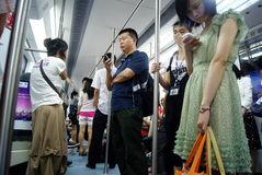 Shenzhen china: people take the subway Stock Images