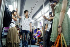 Shenzhen china: people take the subway Stock Photography