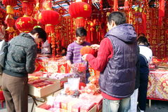 Shenzhen china: people to buy the spring festival Stock Photos
