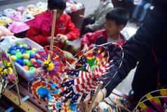 Shenzhen, China: pequeño mercado comercial Foto de archivo libre de regalías