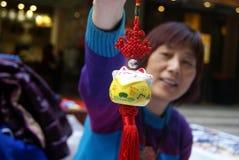 Shenzhen, China: pequeño mercado comercial Imagen de archivo libre de regalías