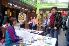 Shenzhen, China: pequeño mercado comercial Imagenes de archivo