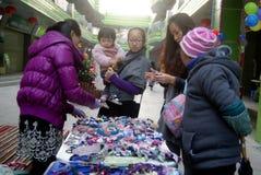 Shenzhen, China: pequeño mercado comercial Foto de archivo