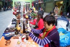 Shenzhen, China: pequeño mercado comercial Fotos de archivo libres de regalías