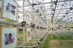Shenzhen, China: photography exhibition Stock Photos