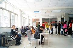 Shenzhen, China: physical examination of workers. Shenzhen Baoan Xixiang epidemic prevention station, in the physical examination of the workers Stock Photo
