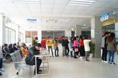 Shenzhen, China: physical examination of workers Royalty Free Stock Image