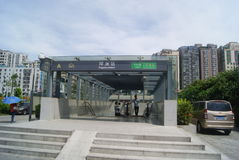 Shenzhen, China: Ping Chau Metro Station Stock Photo