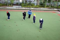 Shenzhen, china: play croquet Stock Image