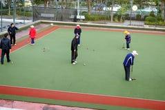 Shenzhen, china: play croquet Royalty Free Stock Photos