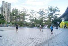 Shenzhen, China: playing badminton Stock Photos