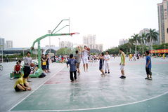 Shenzhen china: playing basketball Stock Photo