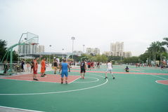 Shenzhen, China: playing basketball Royalty Free Stock Photos