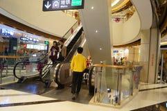 Shenzhen, China: Plaza de compra de Tianhong Imagem de Stock
