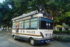 Shenzhen, China: police car Royalty Free Stock Photos