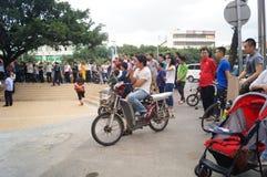 Shenzhen, China: police in handling public dispute Stock Photo