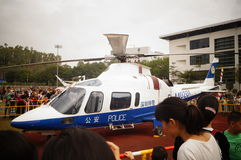 Shenzhen, China: police helicopter exhibition Stock Photos
