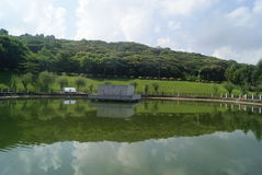 Shenzhen, China: pond landscape Stock Photography