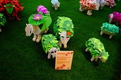 Shenzhen, China: Pop Art Painting-schapententoonstelling royalty-vrije stock foto's