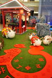 Shenzhen, China: Pop Art Painting-schapententoonstelling stock afbeelding