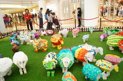 Shenzhen, China: Pop Art Painting sheep Exhibition Royalty Free Stock Images