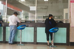 Shenzhen, China: population and family planning service station. Baoan Shenzhen, population and family planning service station. People in the handling of the Royalty Free Stock Image