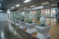 Shenzhen, China: porcelain exhibition sales Stock Photos
