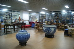 Shenzhen, China: porcelain exhibition sales Royalty Free Stock Photography