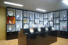 Shenzhen, China: porcelain exhibition sales Stock Photography