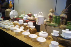 Shenzhen, China: porcelain exhibition sales Royalty Free Stock Photo