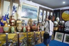 Shenzhen, China: porcelain exhibition sales Royalty Free Stock Images