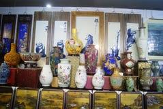 Shenzhen, China: porcelain exhibition sales Stock Photos