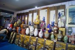 Shenzhen, China: porcelain exhibition sales Stock Images